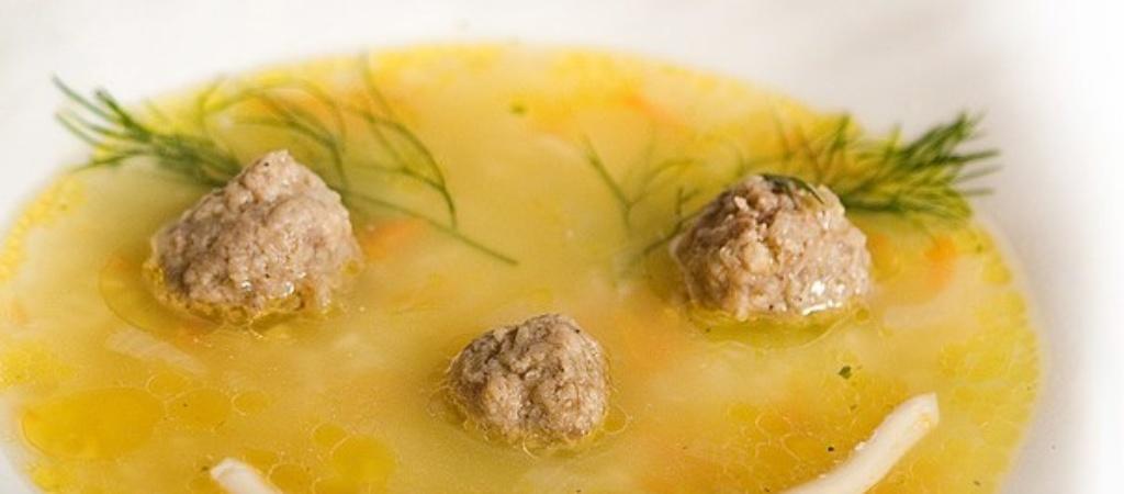 Супы для детей. Cуп с фрикадельками