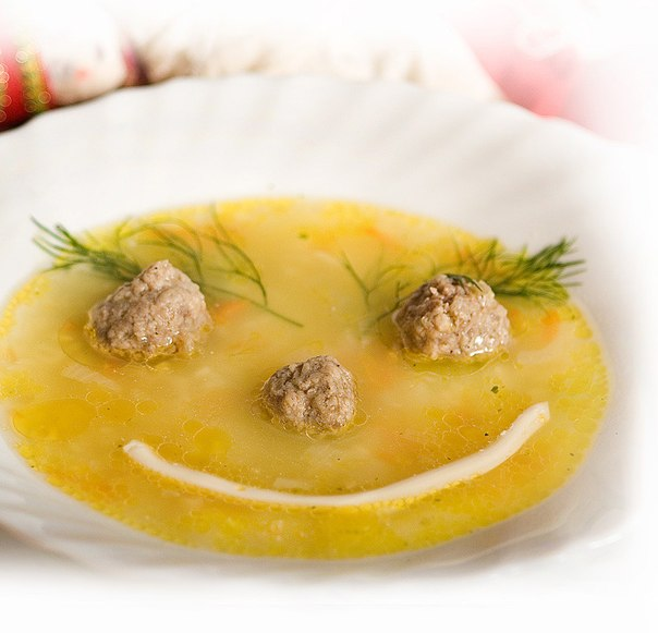 суп для ребенка с фрикадельками