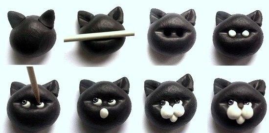 Лепим кота из пластилина