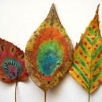 рисовать листья