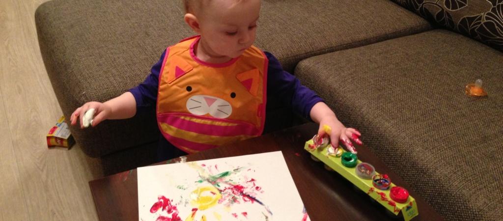 Пальчиковое рисование для малышей