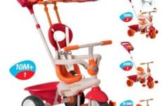 Детский трехколесный велосипед с ручкой SmartTrike