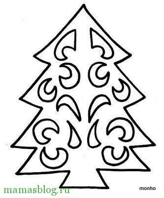 Елочка из бумаги шаблоны для вырезания на новый год