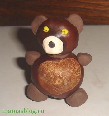 медведь из каштанов