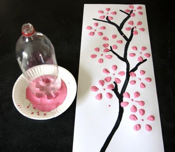 Нарисовать сакуру на руке