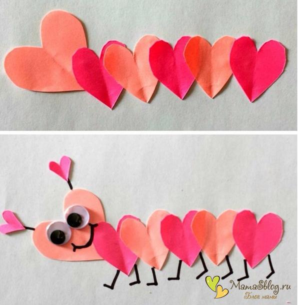 Поделки из бумаги для влюбленных