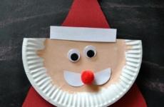 Поделка Дед Мороз из тарелок