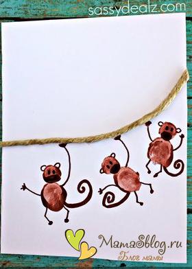 Новогодние поделки обезьяна своими руками