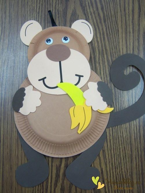 Символ года обезьянка своими руками из бумаги в сад