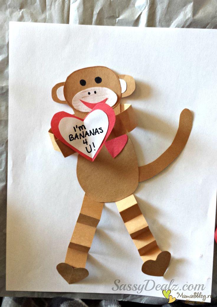 Поделки обезьян для детей