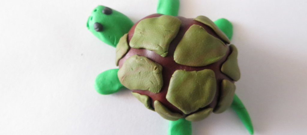Черепаха из каштанов. Поделка из каштанов