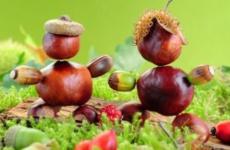 Осенние поделки из каштанов