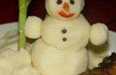 Рецепт для детей «Снеговик»