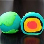 планета Земля из пластилина