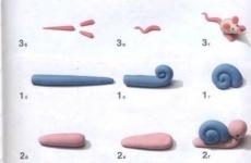 Как лепить мышку и улитку из пластилина?