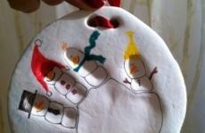 Дед мороз и снеговик своими руками из соленого теста