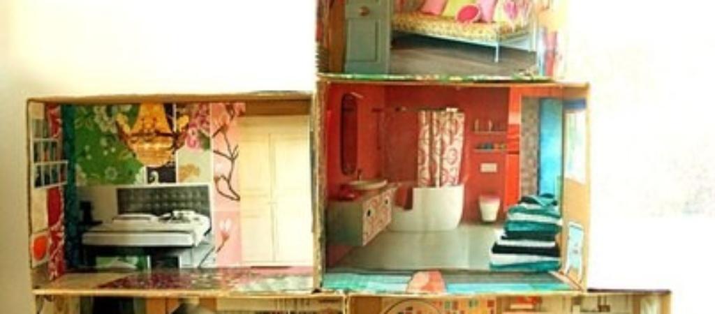 Кукольный домик своими руками из картона