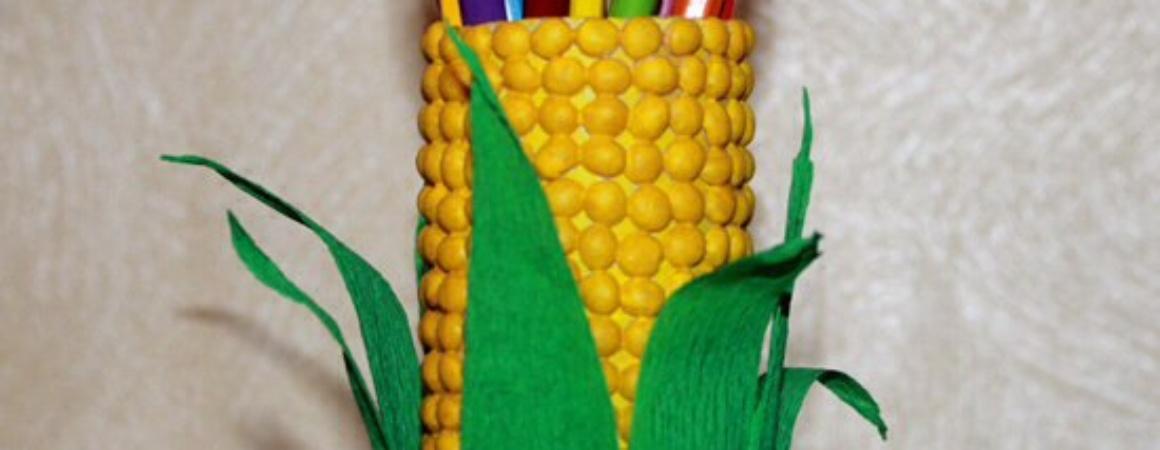 Стаканчик для карандашей «Кукуруза»