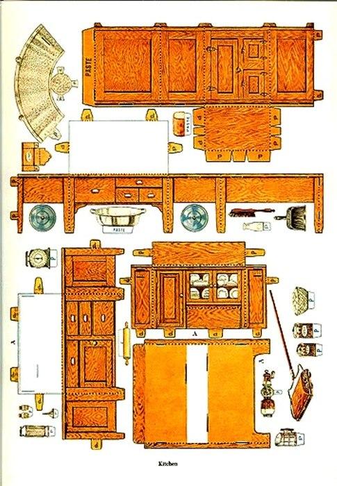 Мебель в кукольном домике 148
