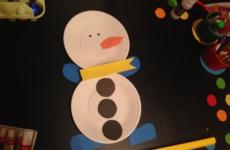 Снеговик своими руками. Новогодняя поделка