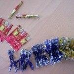 новогодняя гирлянда из конфет