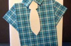 Открытка рубашка на 23 февраля