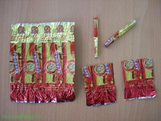 Как сделать гирлянду из фантиков от конфет фото 145